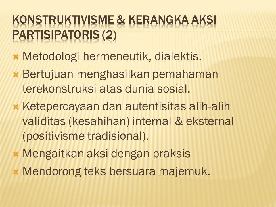  Metodologi hermeneutik, dialektis.
