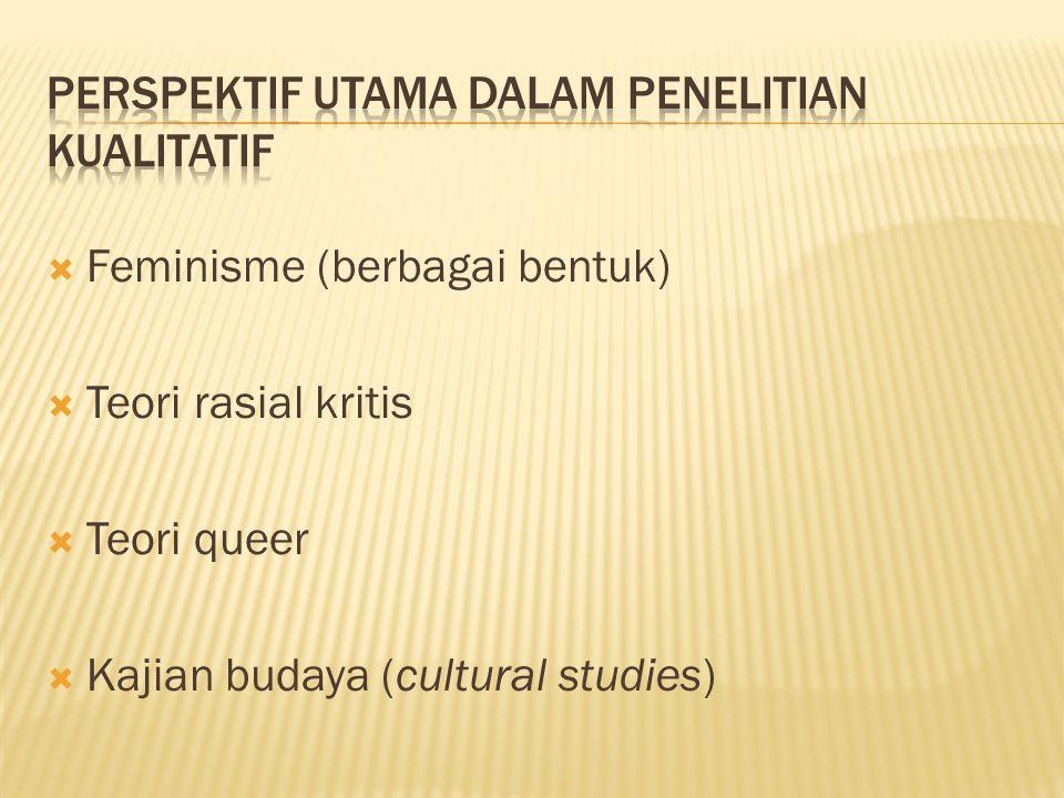  Feminisme (berbagai bentuk)  Teori rasial kritis  Teori queer  Kajian budaya (cultural studies)