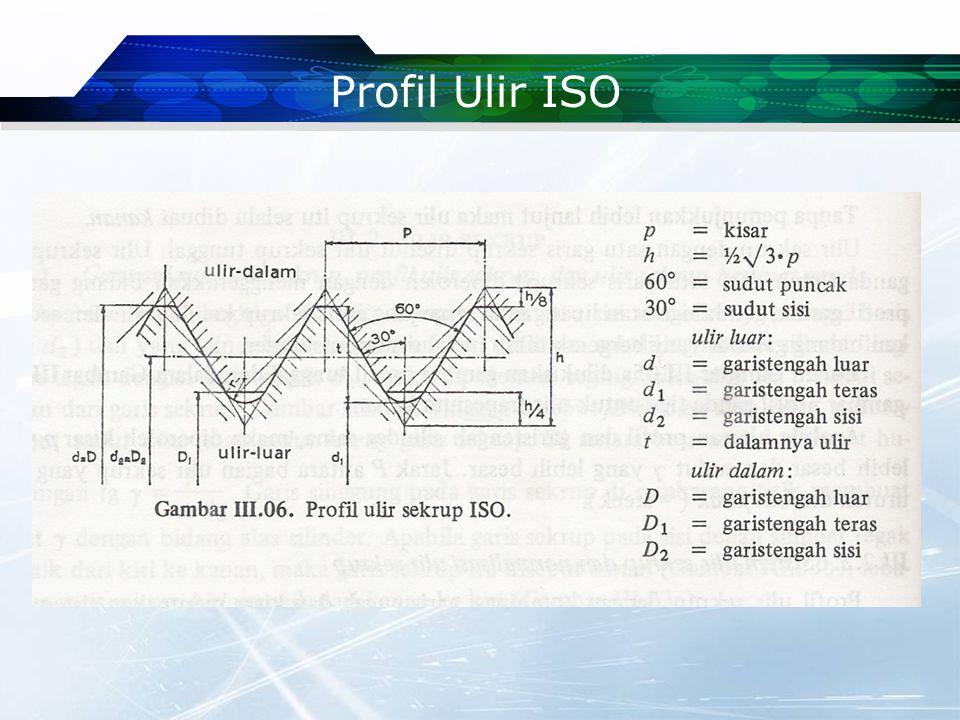 Profil Ulir ISO