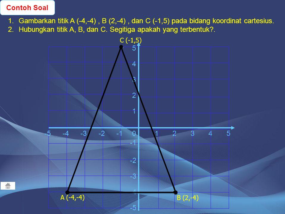3. Segitiga Siku-siku 2. Segitiga Sama Sisi A B C A B C a b c Contoh Soal