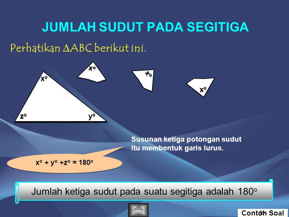 054321 1 2 3 4 5 -4 -5 -3 -4 -2 -3 -2 1.Gambarkan titik A (-4,-4), B (2,-4), dan C (-1,5) pada bidang koordinat cartesius. 2.Hubungkan titik A, B, dan