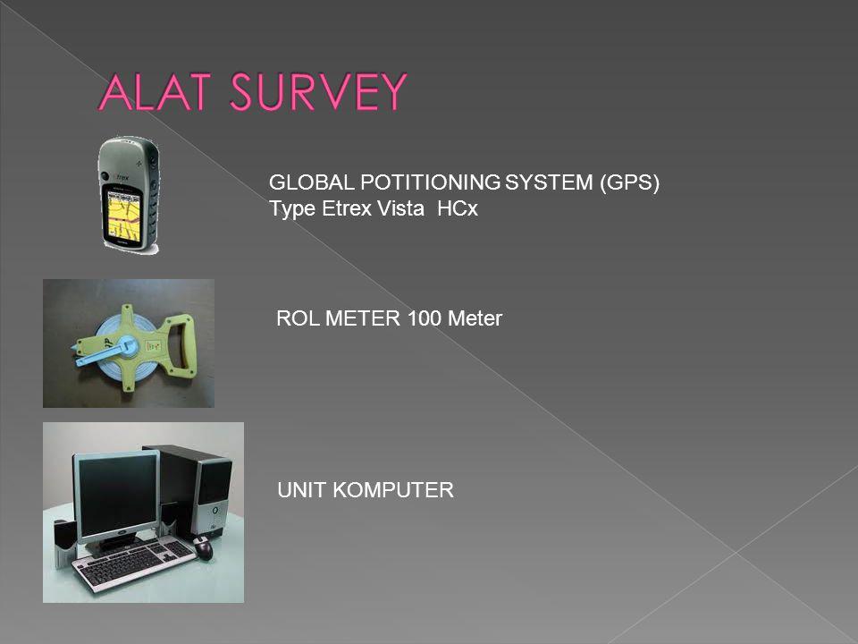 GLOBAL POTITIONING SYSTEM (GPS) Type Etrex Vista HCx ROL METER 100 Meter UNIT KOMPUTER