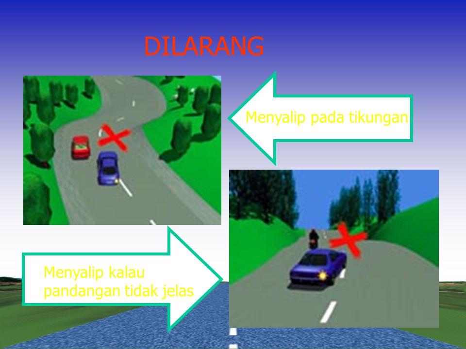 Menyalip pada jalan dengan dua lajur dua arah