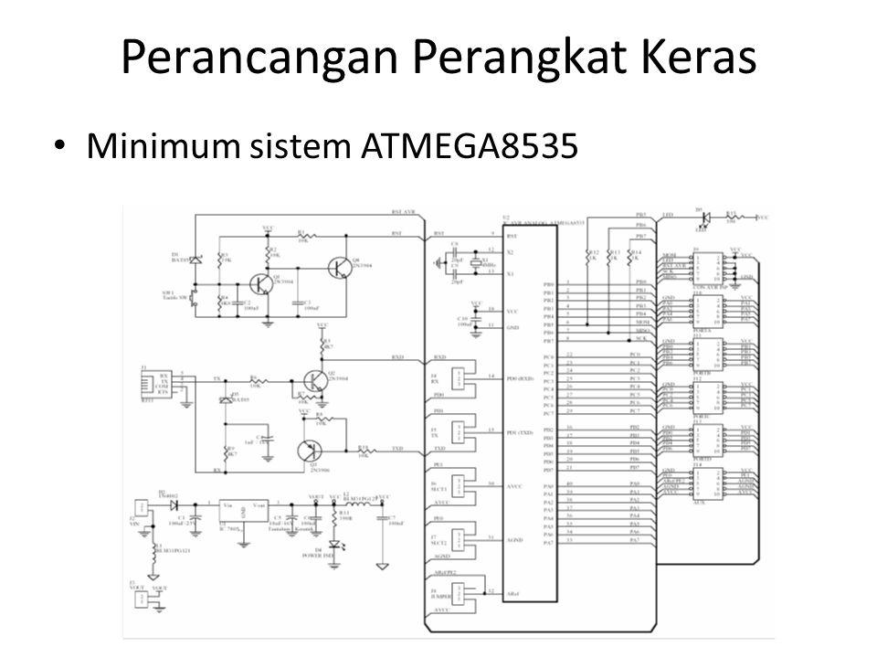 Perancangan Perangkat Keras Minimum sistem ATMEGA8535
