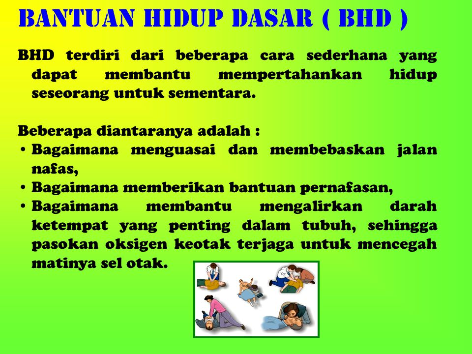 Bila tindakan ini dilakukan sebagai satu kesatuan yang lengkapmaka tindakan ini dikenal dengan istilah Resusitasi Jantung Paru ( RJP ).