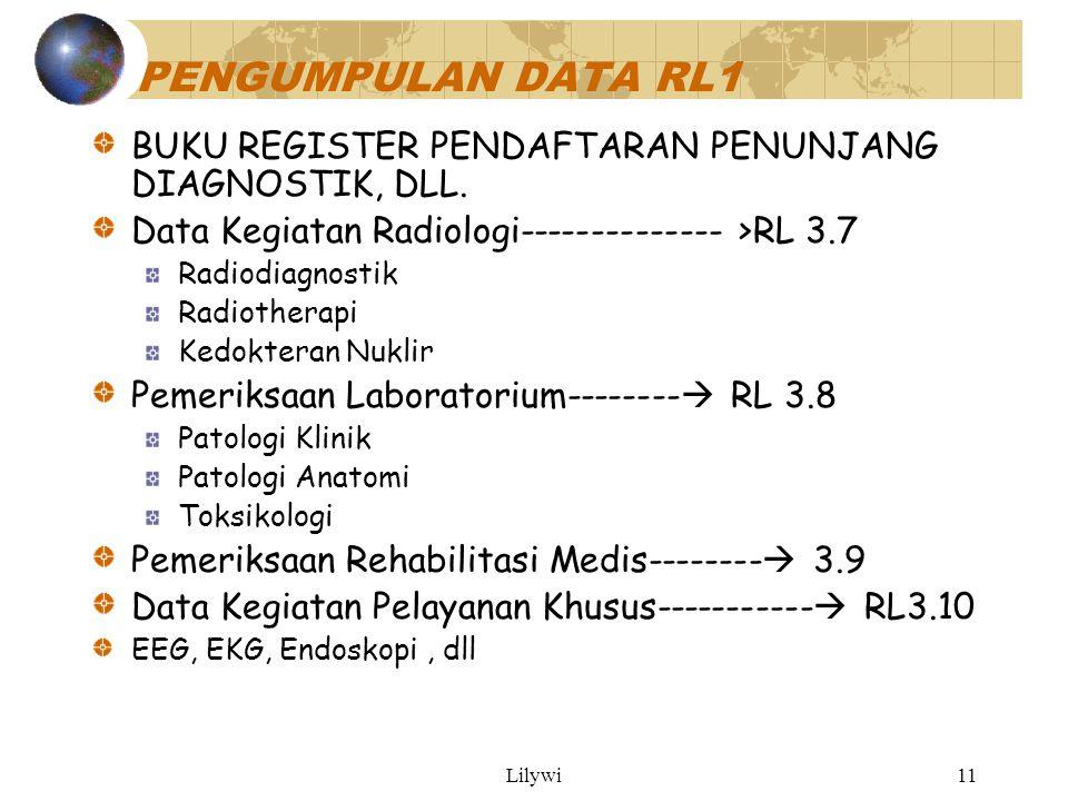 Lilywi11 PENGUMPULAN DATA RL1 BUKU REGISTER PENDAFTARAN PENUNJANG DIAGNOSTIK, DLL.