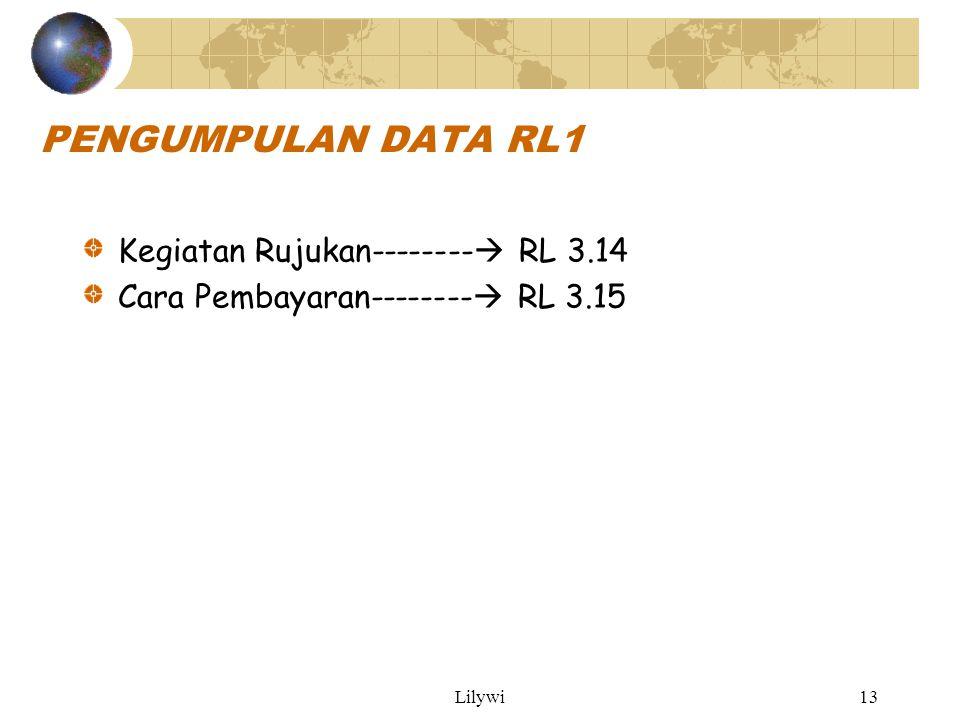Lilywi13 PENGUMPULAN DATA RL1 Kegiatan Rujukan--------  RL 3.14 Cara Pembayaran--------  RL 3.15