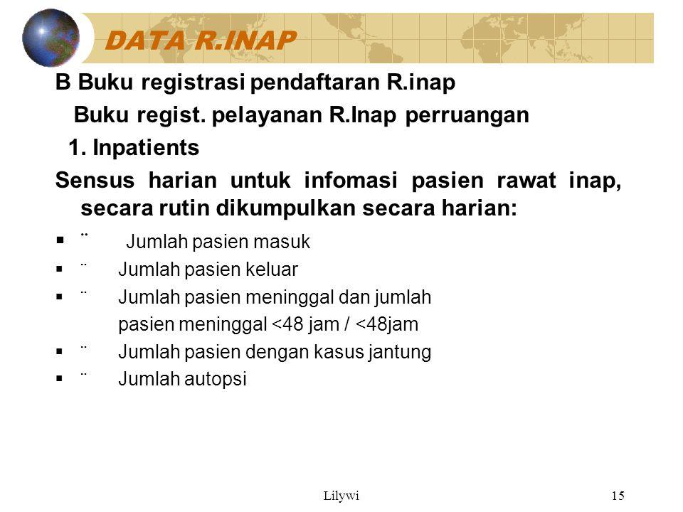 Lilywi15 DATA R.INAP B Buku registrasi pendaftaran R.inap Buku regist.