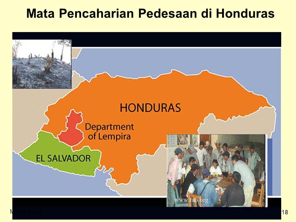 18 Mata Pencaharian Pedesaan di Honduras Mod 8 Ses 2