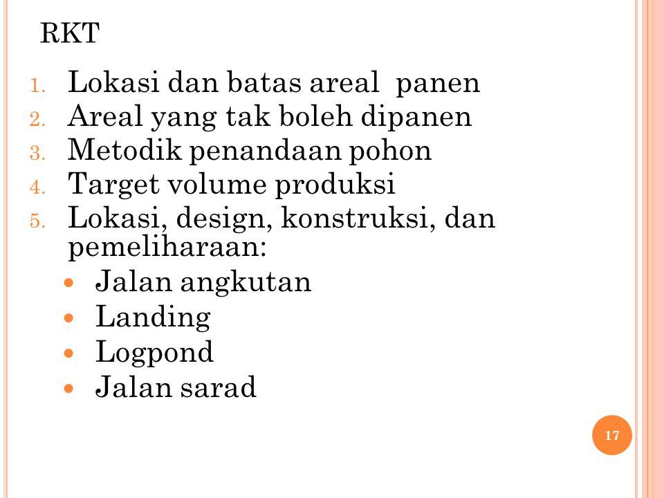 RKU 1.Verifikasi areal yang boleh dan tidak boleh ditebang 2.