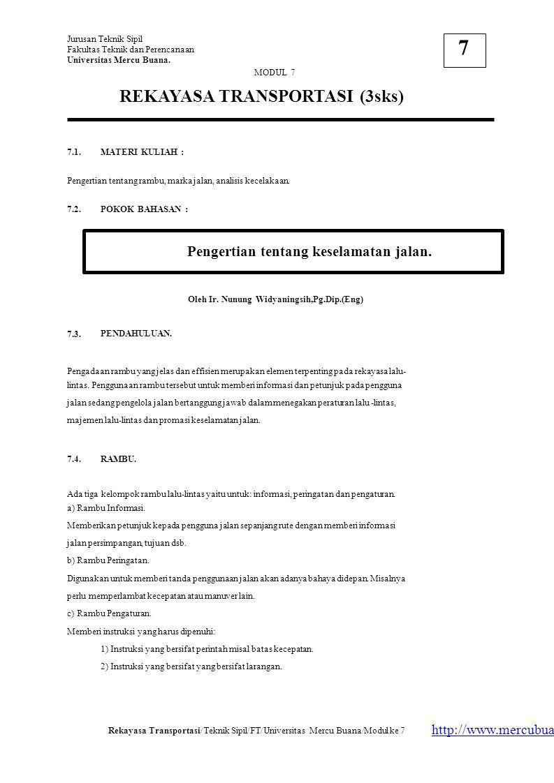 Jurusan Teknik Sipil Fakultas Teknik dan Perencanaan Universitas Mercu Buana.