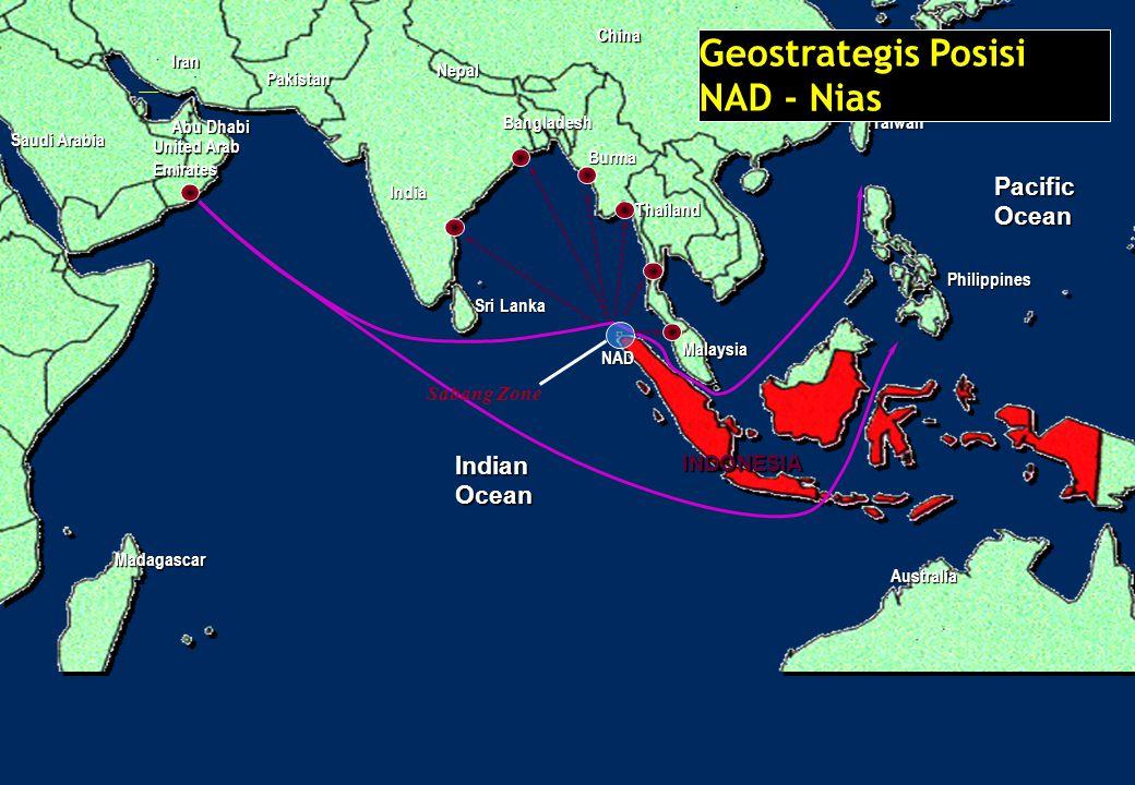PacificOcean IndianOcean Madagascar China India Japan Taiwan Australia INDONESIA Malaysia Saudi Arabia Philippines Thailand Sri Lanka Sabang Zone Burm