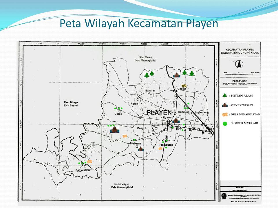 Peta Wilayah Kecamatan Playen