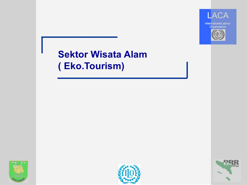 LACA International Labour Organization Sektor Wisata Alam ( Eko.Tourism)