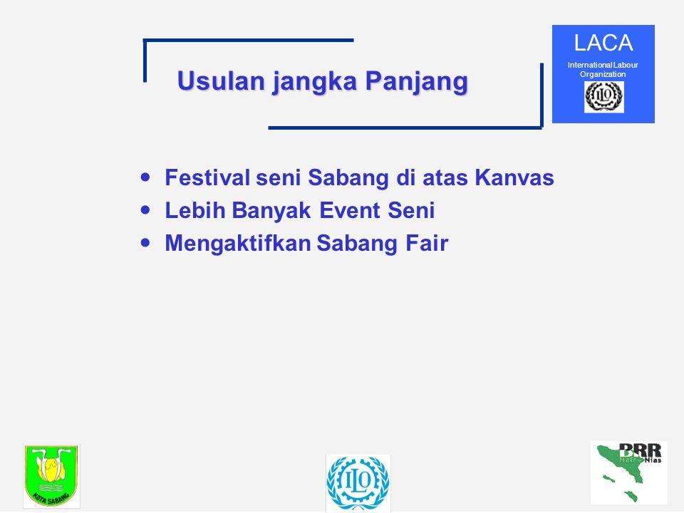 LACA International Labour Organization Usulan jangka Panjang —Festival seni Sabang di atas Kanvas —Lebih Banyak Event Seni —Mengaktifkan Sabang Fair