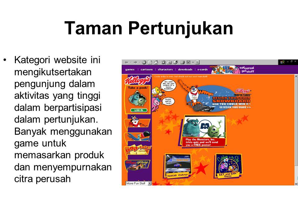 Taman Pertunjukan Kategori website ini mengikutsertakan pengunjung dalam aktivitas yang tinggi dalam berpartisipasi dalam pertunjukan.