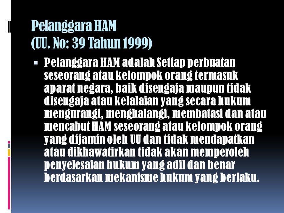 B.Jenis Dan Macam-macam Hak Asasi Manusia (HAM) 1.