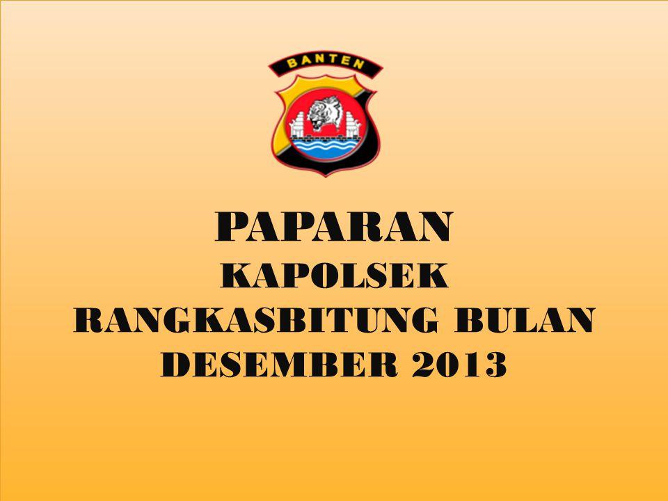 PAPARAN KAPOLSEK RANGKASBITUNG BULAN DESEMBER 2013