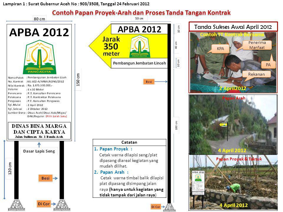 Lampiran 2 : Surat Gubernur Aceh No : 903/3508, Tanggal 24 Februari 2012