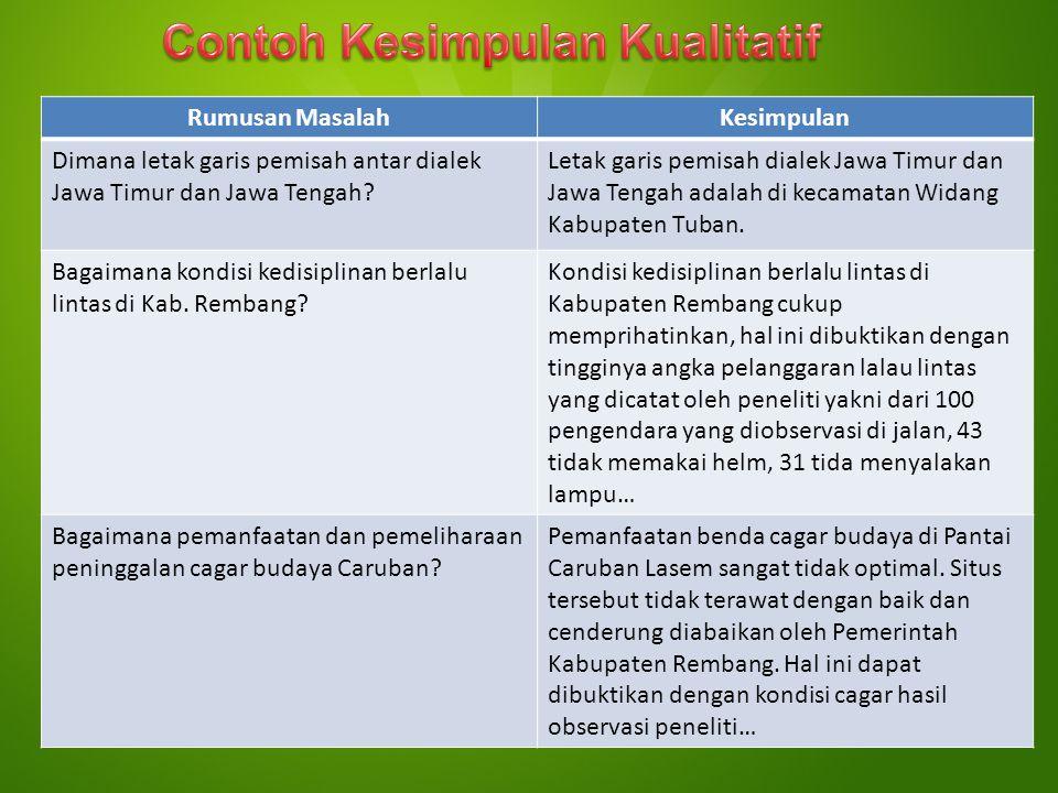 Rumusan MasalahKesimpulan Dimana letak garis pemisah antar dialek Jawa Timur dan Jawa Tengah? Letak garis pemisah dialek Jawa Timur dan Jawa Tengah ad