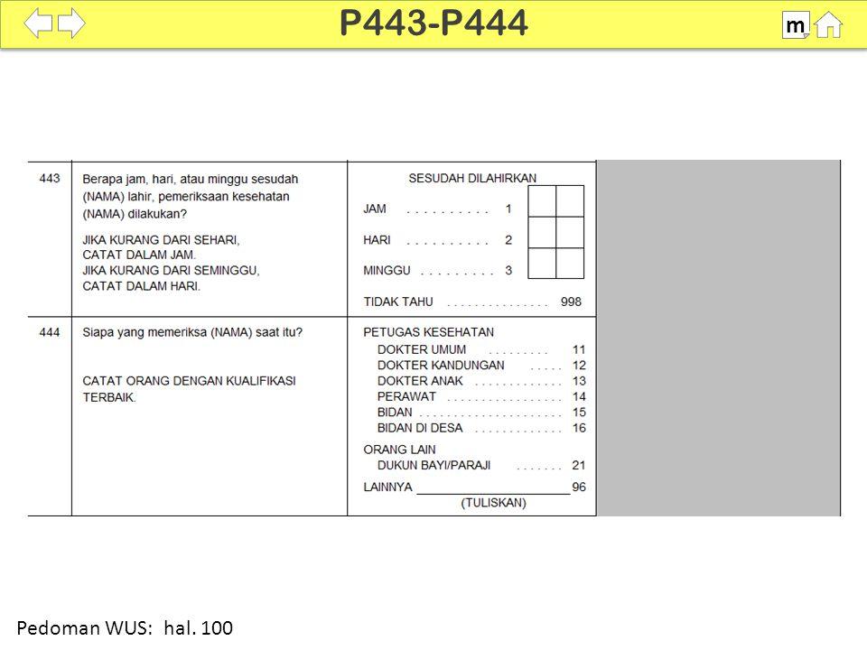 100% SDKI 2012 P443-P444 m Pedoman WUS: hal. 100