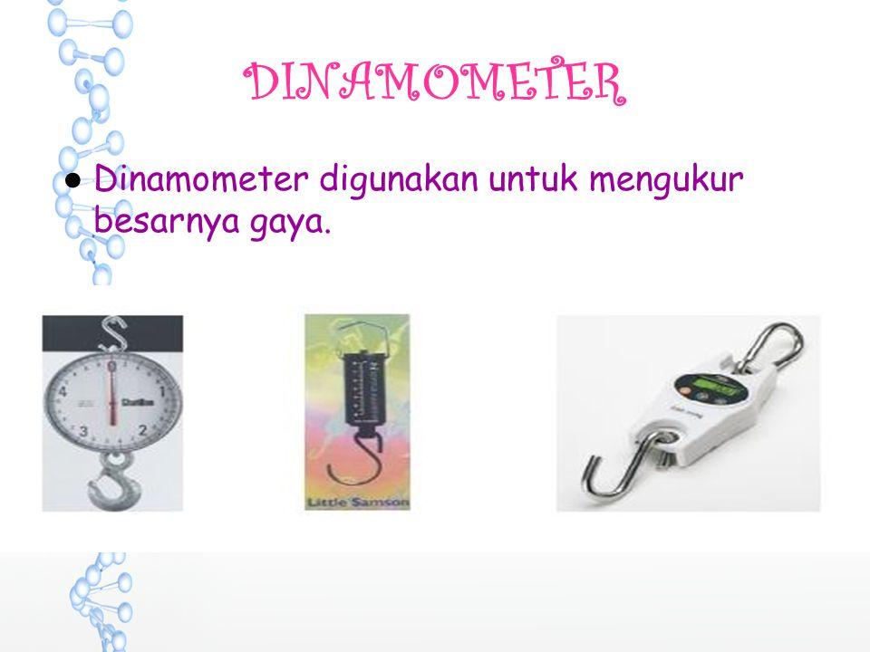 DINAMOMETER ●Dinamometer digunakan untuk mengukur besarnya gaya.