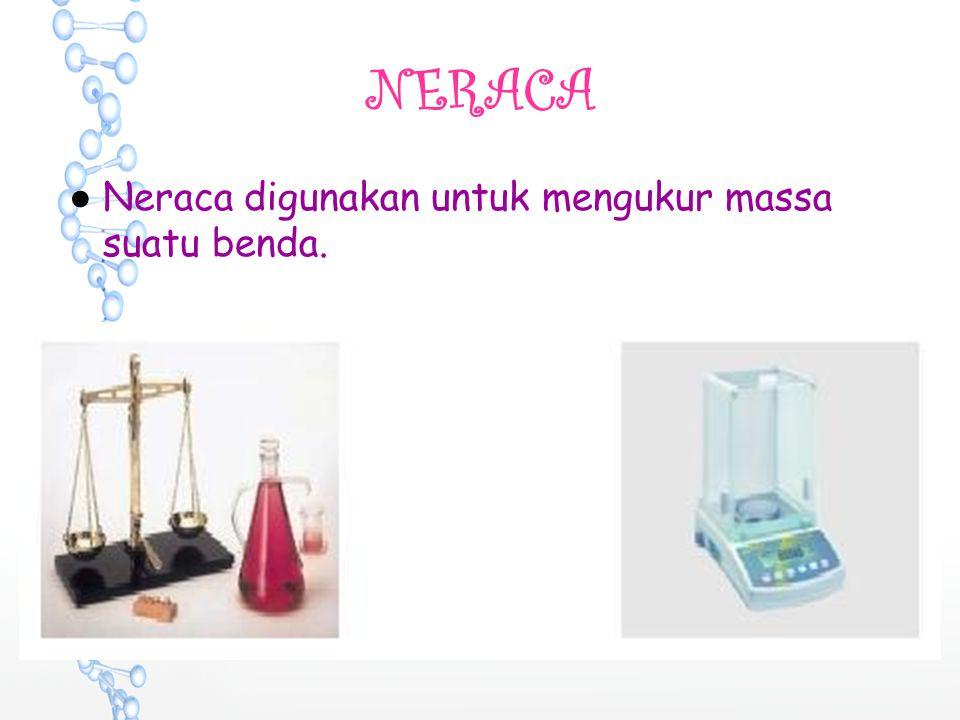 NERACA ●N●Neraca digunakan untuk mengukur massa suatu benda.