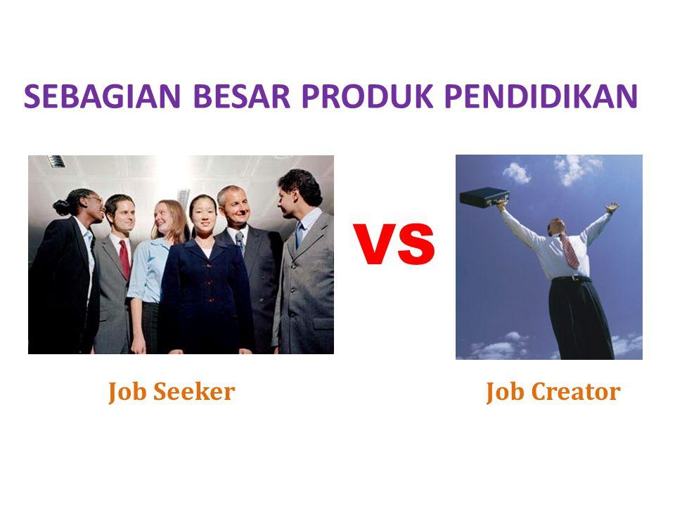 SEBAGIAN BESAR PRODUK PENDIDIKAN VS Job SeekerJob Creator