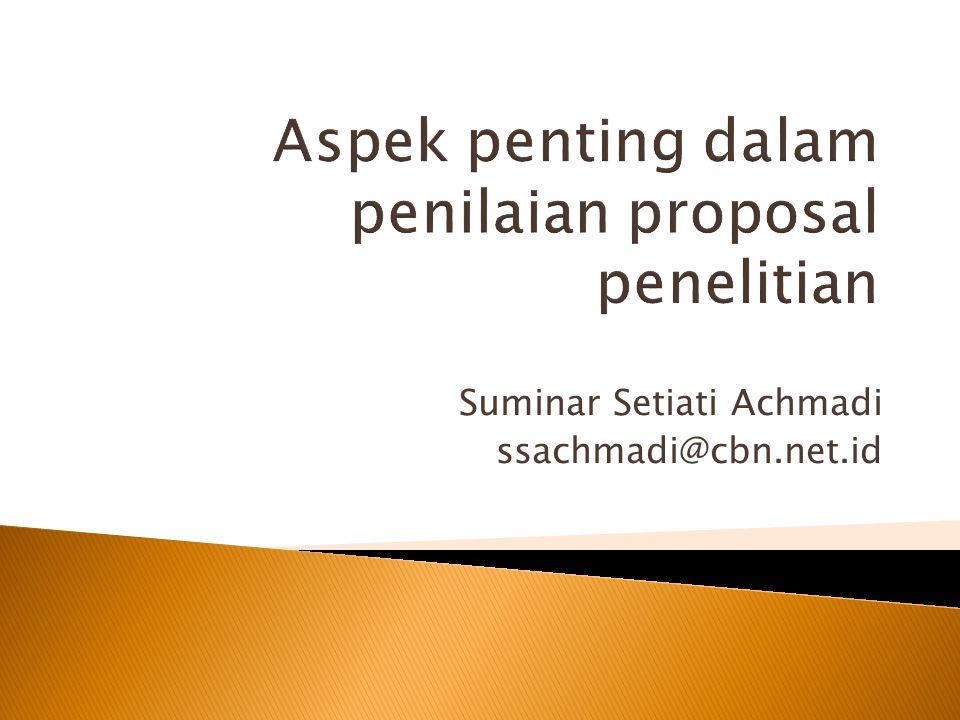 Suminar Setiati Achmadi ssachmadi@cbn.net.id