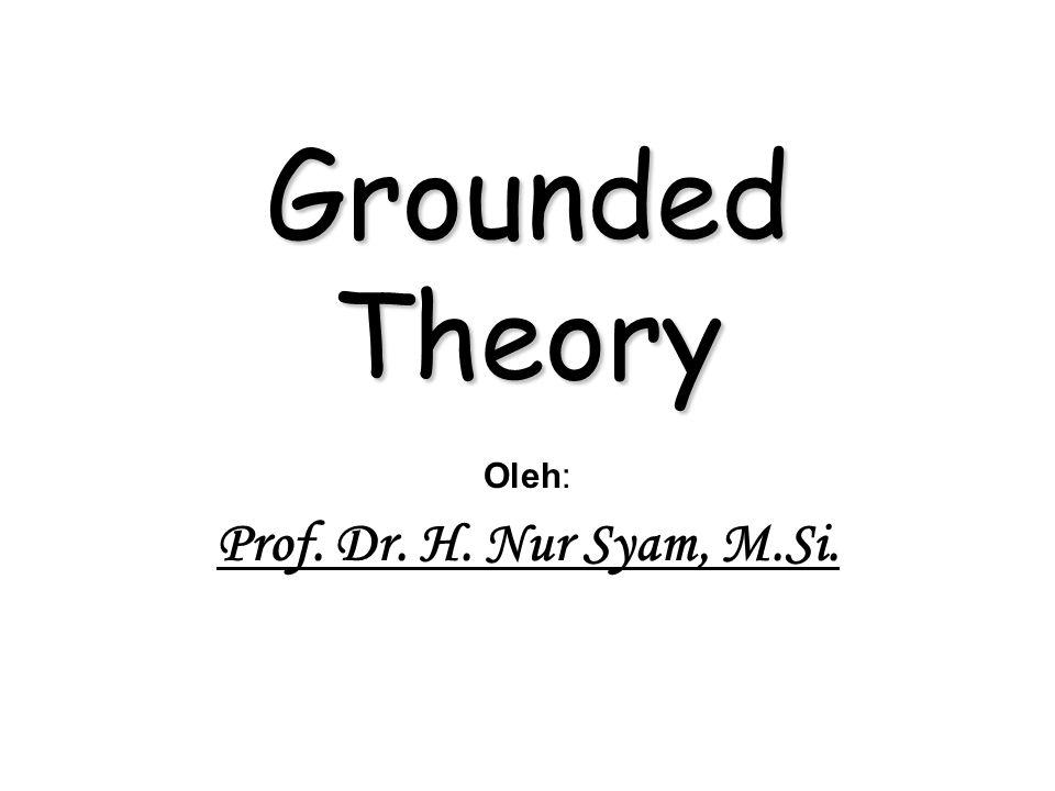 Beberapa konsep penting dalam grounded theory