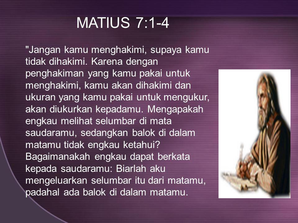 MATIUS 7:1-4
