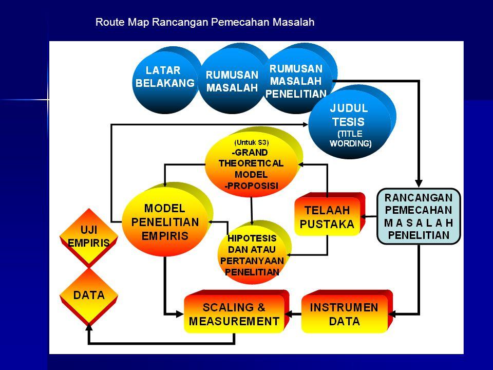 13 Route Map Rancangan Pemecahan Masalah