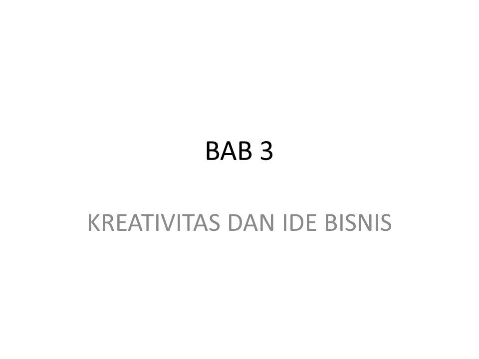 BAB 3 KREATIVITAS DAN IDE BISNIS