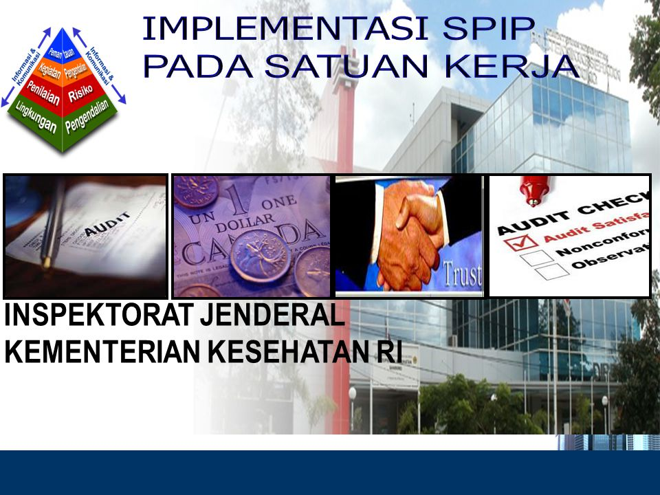 12 SPIP Pemantauan Pengendalian Intern Pemantauan Pengendalian Intern Informasi & Komunikasi Kegiatan Pengendalian Penilaian Risiko Lingkungan Pengendalian Identifikasi Risiko Analisis Risiko Sarana Komunikasi Sistem Informasi Pemantauan Berkelanjutan Evaluasi Terpisah Tindak Lanjut Pembinaan Sumber Daya Manusia Pengendalian Pengelolaan Sistem Informasi Pengendalian Fisik atas Aset Penetapan & Reviu Indikator & Ukuran Kinerja Pemisahan Fungsi Otorisasi Transaksi dan Kejadian Penting Pencatatan yang Akurat dan Tepat Waktu Pembatasan Akses atas Sumber Daya Akuntabilitas terhadap Sumber Daya Reviu atas Kinerja Instansi Pemerintah Dokumentasi atas Sistem Pengendalian Intern Kebijakan yang Sehat tentang Pembinaan SDM Pendelegasian Wewenang dan Tanggung Jawab Struktur Organisasi yang Sesuai Kebutuhan Kepemimpinan yang Kondusif Komitmen terhadap Kompetensi Penegakan Integritas dan Etika Peran APIP yang Efektif Hubungan Kerja yang Baik Ps.