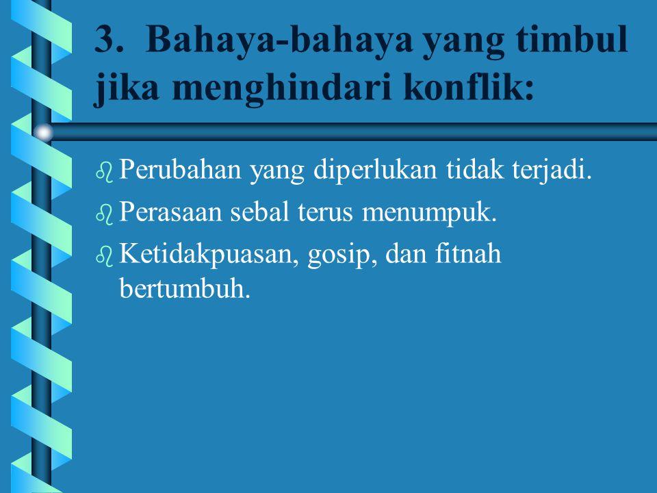 9.Akibat kalau konflik tidak diselesaikan dengan benar.