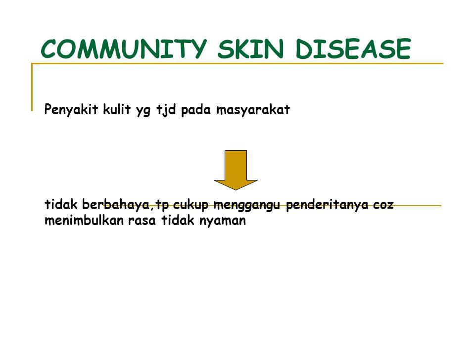 Batasan : gangguan2 kulit yg dapat diobati sendiri (swamedikasi) Jenis-jenis CSD : 1.