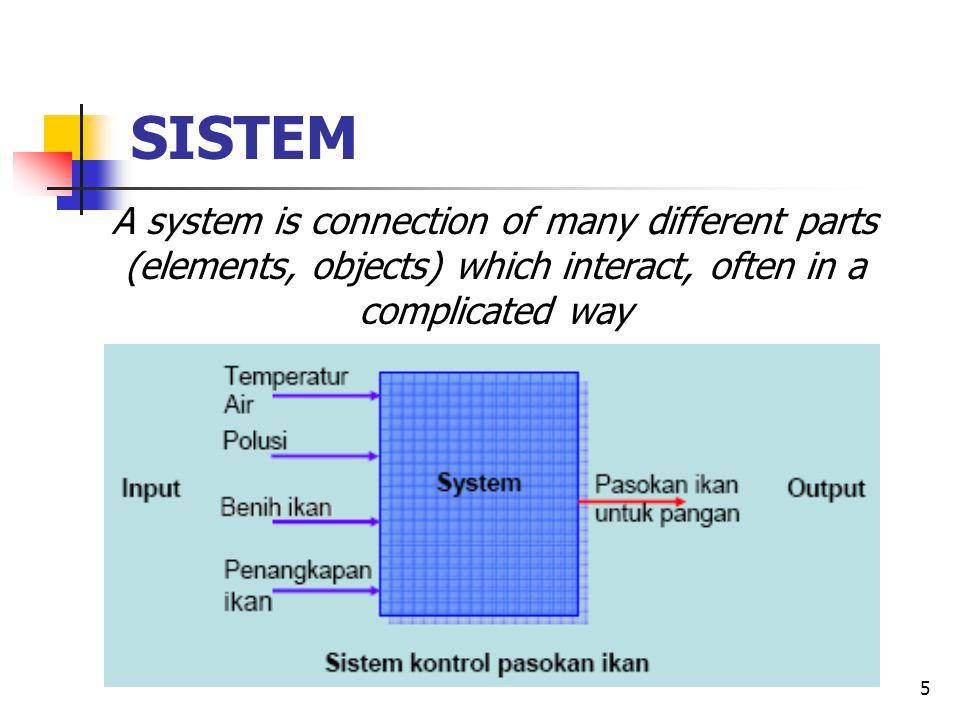 6 Sistem dapat dianalisis dari sisi input dan output, dan ditunjukkan dengan menggunakan Block Diagram To understand the system, we have to find the different causes, and find how each influences the total effect.