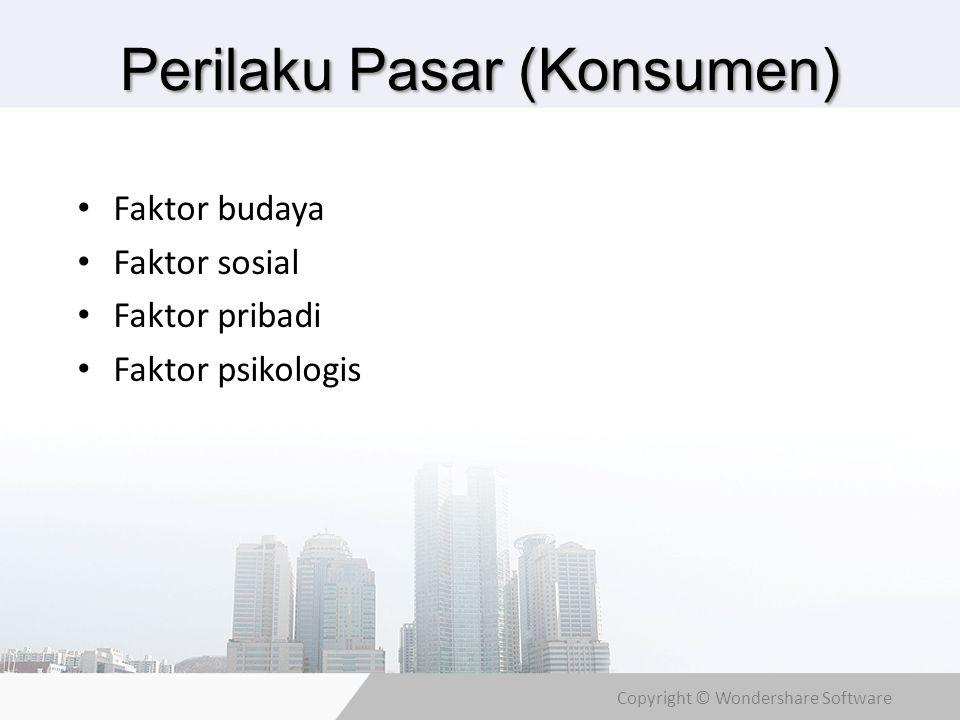 Copyright © Wondershare Software Perilaku Pasar (Konsumen) Faktor budaya Faktor sosial Faktor pribadi Faktor psikologis