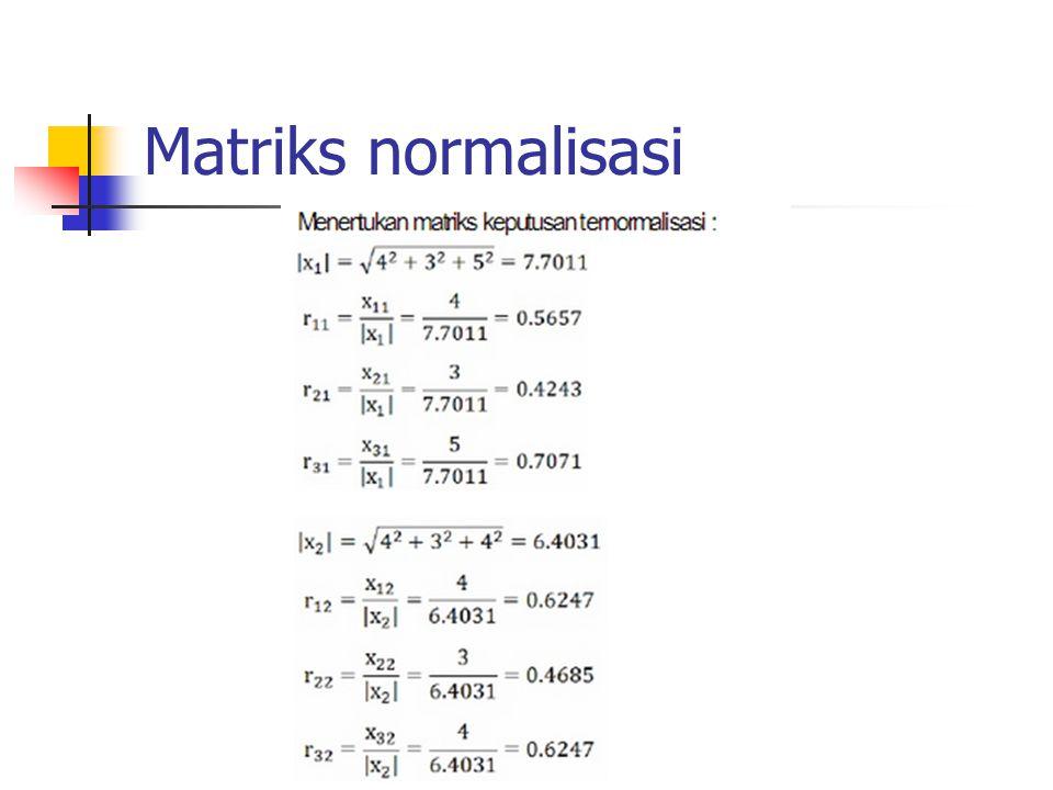 Matriks normalisasi