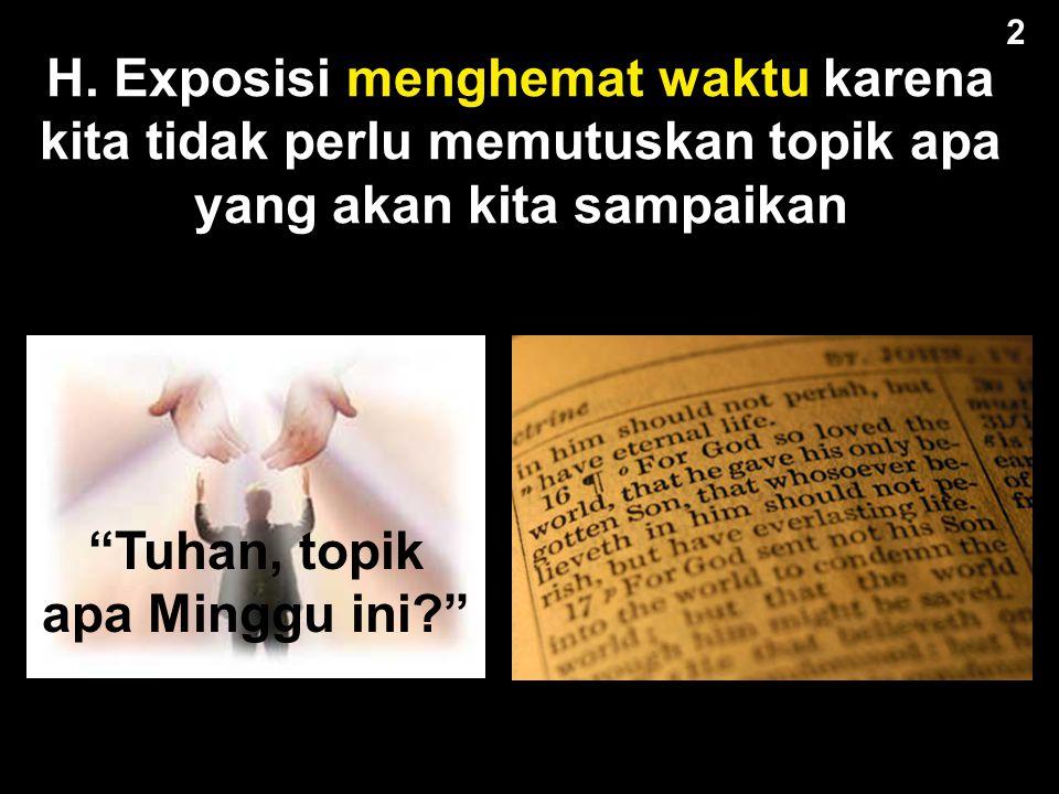 G. Exposisi memungkinkan berkhotbah dari seluruh buku dari Alkitab 2 2 Khotbah 2008 Khotbah 2009 Khotbah 2010 Khotbah 2011 Khotbah 2012 Khotbah 2013 K