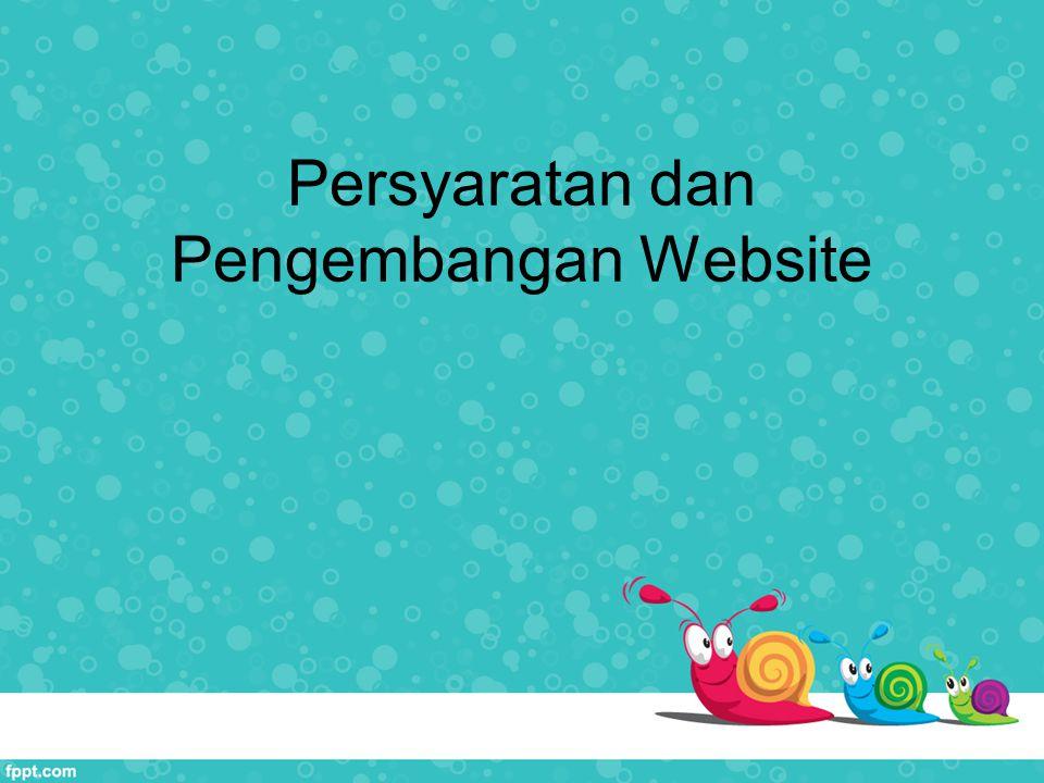 Persyaratan dan Pengembangan Website