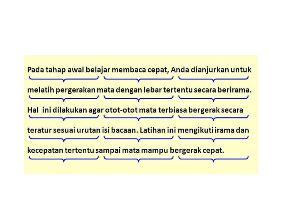 2.Penyesuaian Kecepatan Membaca 1.