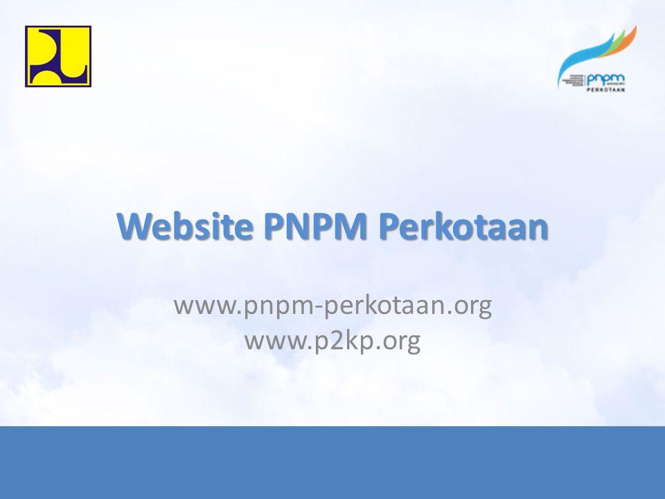 Website PNPM Perkotaan www.pnpm-perkotaan.org www.p2kp.org