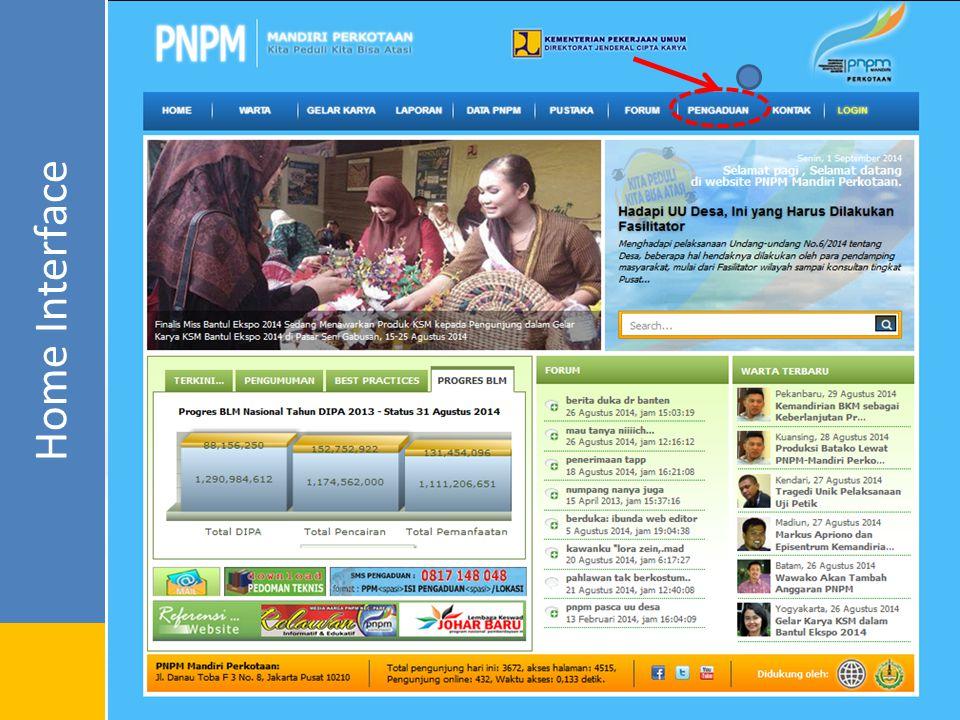 Fasilitas Pengaduan Pengaduan Online Pengiriman pengaduan melalui website secara Online.