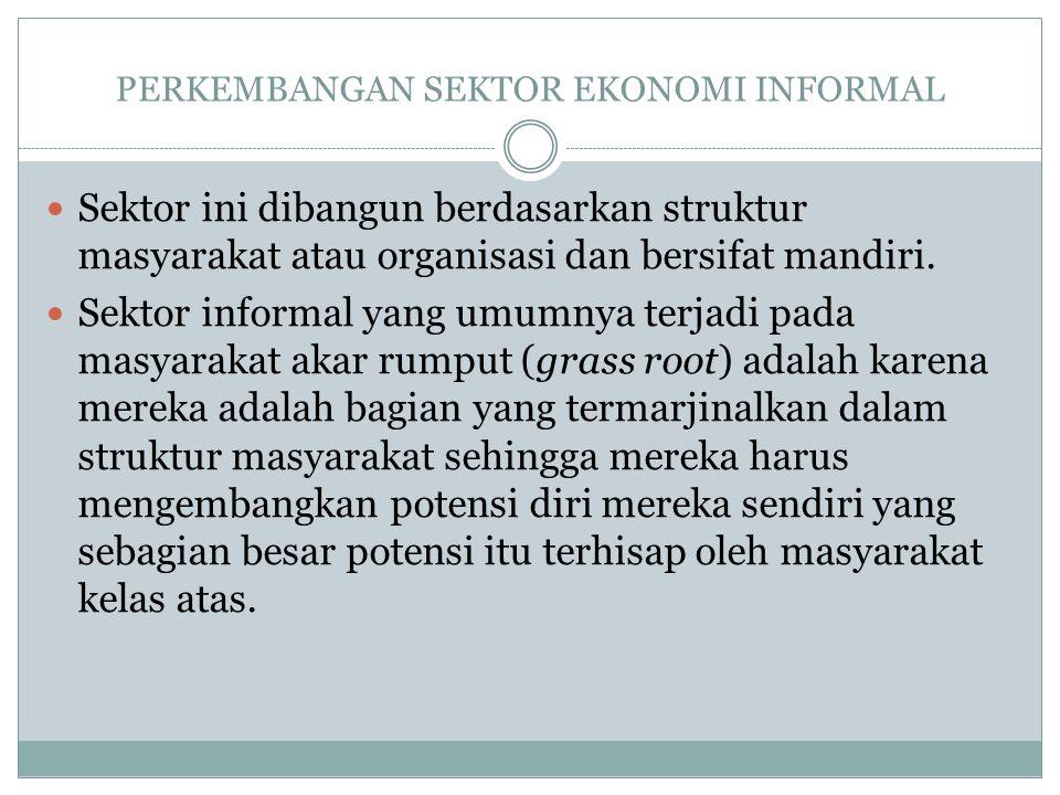 Empat Kategori Pekerja Sektor Informal 1.