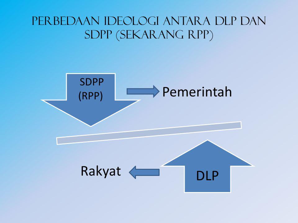 Perbedaan ideologi antara DLP dan SDPP (sekarang RPP) Pemerintah Rakyat DLP SDPP (RPP)
