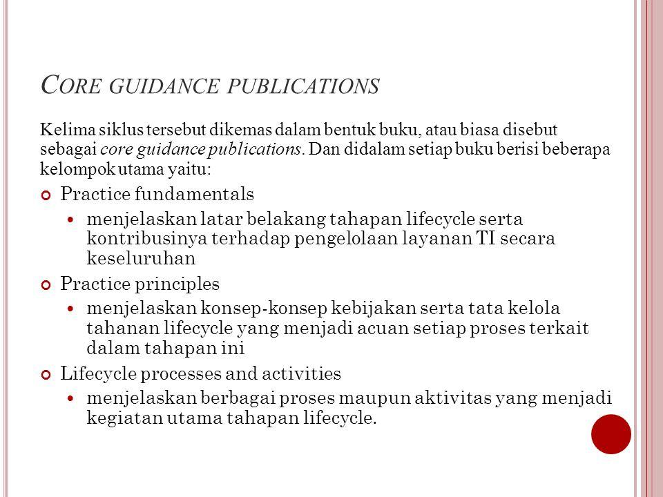 C ORE GUIDANCE PUBLICATIONS Kelima siklus tersebut dikemas dalam bentuk buku, atau biasa disebut sebagai core guidance publications.
