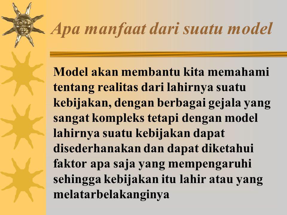 Model Mix Scanning (Model Pengamatan Terpadu) Penganjur dari model ini adalah ahli sosiologi organisasi Amitai Ezioni.