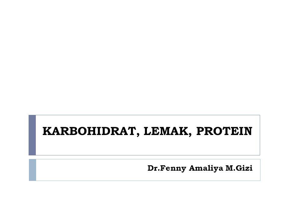  Lemak merupakan komponen struktural semua sel dan dibutuhkan dalam fungsi fisiologis tubuh  Lemak pada makanan sebagian besar dalam bentuk trigliserida  Fungsi lemak : mensuplai energi, cadangan energi, isolator, pelindung organ, membantu penyerapan vitamin A,D,E,K