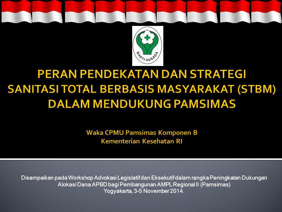 Disampaikan pada Workshop Advokasi Legislatif dan Eksekutif dalam rangka Peningkatan Dukungan Alokasi Dana APBD bagi Pembangunan AMPL Regional II (Pamsimas) Yogyakarta, 3-5 November 2014.
